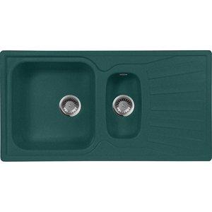 Кухонная мойка AquaGranitEx M-09K 940х495 зеленый (M-09K (305)) кухонная мойка aquagranitex m 05 470х470 зеленый m 05 305