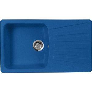 Кухонная мойка AquaGranitEx M-12 840х490 синий (M-12 (323)) кухонная мойка ukinox fad 490 gt6k 0c