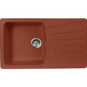 все цены на Кухонная мойка AquaGranitEx M-12 840х490 красный марс (M-12 (334))