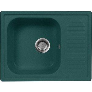 Кухонная мойка AquaGranitEx M-13 645х495 зеленый (M-13 (305)) aquagranitex 13 white