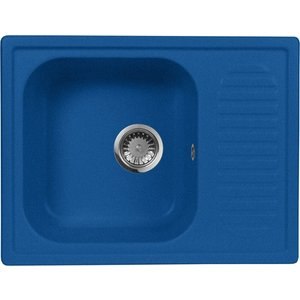Кухонная мойка AquaGranitEx M-13 645х495 синий (M-13 (323)) мойка кухонная aquagranitex m 17 420х485 серый m 17 310