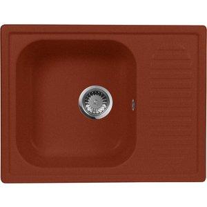 все цены на Кухонная мойка AquaGranitEx M-13 645х495 красный марс (M-13 (334))