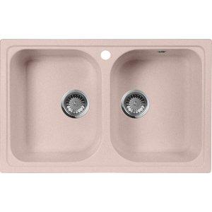 Кухонная мойка AquaGranitEx M-15 775х495 розовый (M-15 (315)) помада pupa i m lipstick 315 цвет 315 red magenta variant hex name b42342 вес 10 00