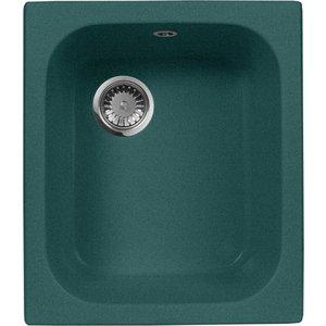 Кухонная мойка AquaGranitEx M-17 420х485 зеленый (M-17 (305)) кухонная мойка aquagranitex m 17 420х485 светло розовый m 17 311