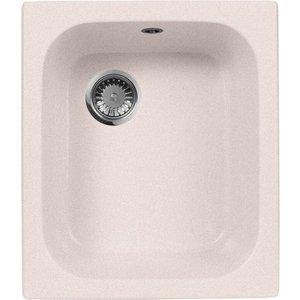Кухонная мойка AquaGranitEx M-17 420х485 светло-розовый (M-17 (311)) мойка кухонная aquagranitex m 17 420х485 серый m 17 310