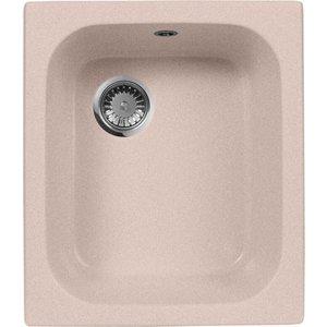 Кухонная мойка AquaGranitEx M-17 420х485 розовый (M-17 (315)) кухонная мойка aquagranitex m 17 420х485 светло розовый m 17 311