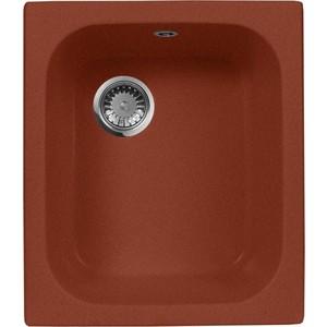 Кухонная мойка AquaGranitEx M-17 420х485 красный марс (M-17 (334)) кухонная мойка aquagranitex m 17 420х485 светло розовый m 17 311