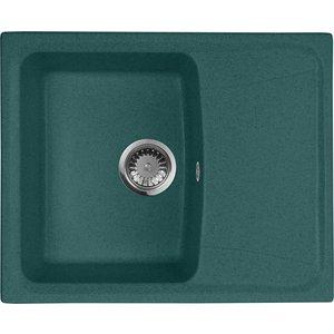 Кухонная мойка AquaGranitEx M-17K 600х490 зеленый (M-17K (305)) мойка кухонная aquagranitex m 17 420х485 серый m 17 310
