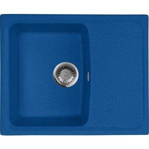 Кухонная мойка AquaGranitEx M-17K 600х490 синий (M-17K (323)) мойка кухонная aquagranitex m 17 420х485 серый m 17 310