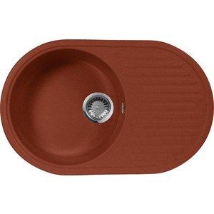 все цены на Кухонная мойка AquaGranitEx M-18 730х460 красный марс (M-18 (334))