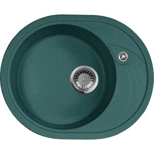 Кухонная мойка AquaGranitEx M-18L 570х460 зеленый (M-18L (305)) кухонная мойка aquagranitex m 05 470х470 зеленый m 05 305