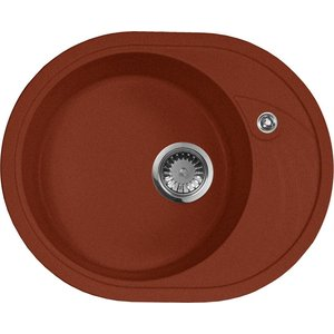 все цены на Кухонная мойка AquaGranitEx M-18L 570х460 красный марс (M-18L (334))