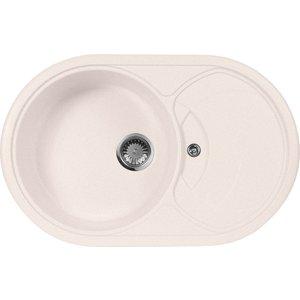 Кухонная мойка AquaGranitEx M-18S 780х500 светло-розовый (M-18S (311)) кольца proms от 18s с позолоченными кольцами из 18s с бриллиантами