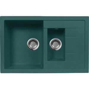 Кухонная мойка AquaGranitEx M-21K 780х500 зеленый (M-21K (305)) кухонная мойка aquagranitex m 05 470х470 зеленый m 05 305