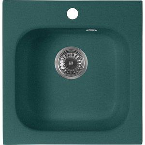 Кухонная мойка AquaGranitEx M-43 430х445 зеленый (M-43 (305)) цена