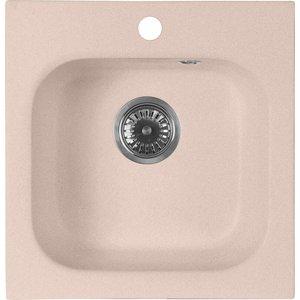 Кухонная мойка AquaGranitEx M-43 430х445 розовый (M-43 (315)) мойка кухонная aquagranitex m 17 420х485 серый m 17 310