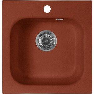 все цены на Кухонная мойка AquaGranitEx M-43 430х445 красный марс (M-43 (334))