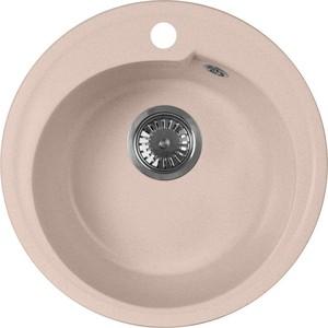 Кухонная мойка AquaGranitEx M-45 440х440 розовый (M-45 (315)) помада pupa i m lipstick 315 цвет 315 red magenta variant hex name b42342 вес 10 00