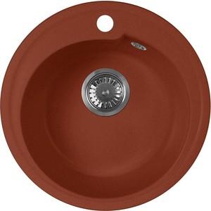 Кухонная мойка AquaGranitEx M-45 450х450 красный марс (M-45 (334))