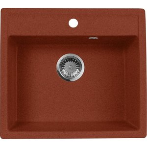 все цены на Кухонная мойка AquaGranitEx M-56 560х500 красный марс (M-56 (334))