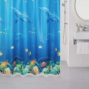 Штора для ванной Milardo Ocean Floor 180x180 см (520V180M11) штора для ванной комнаты milardo 535v180m11