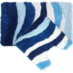 Набор ковриков для ванной IDDIS Blue Wave 50x80 и 50x50 см (480M580i13) набор ковриков для ванной iddis beige landscape 242m590i13