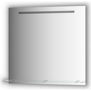 Зеркало с полочкой Evoform Ledline-S со светильником 6 W 80x75 см (BY 2156) зеркало evoform ledline 100х75 см со встроенным led светильником 7 w by 2107