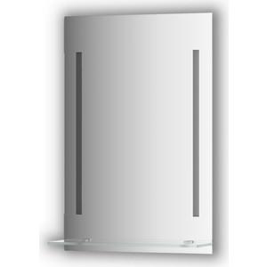 Зеркало с полочкой Evoform Ledline-S с 2-мя светильниками 11 W 50x75 см (BY 2160)