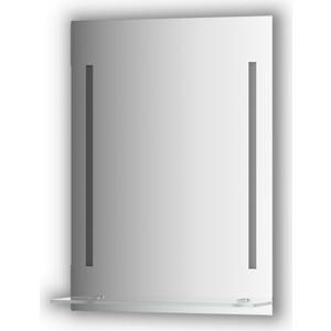 Зеркало с полочкой Evoform Ledline-S с 2-мя светильниками 11 W 55x75 см (BY 2161) зеркало evoform ledline 100х75 см со встроенным led светильником 7 w by 2107