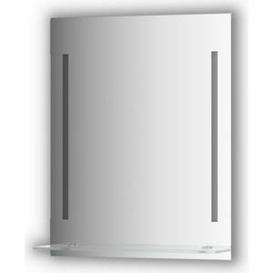 Зеркало с полочкой Evoform Ledline-S с 2-мя светильниками 11 W 60x75 см (BY 2162) зеркало evoform ledline 100х75 см со встроенным led светильником 7 w by 2107