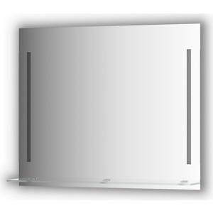 Зеркало с полочкой Evoform Ledline-S с 2-мя светильниками 11 W 90x75 см (BY 2165) зеркало evoform ledline 100х75 см со встроенным led светильником 7 w by 2107