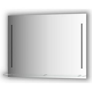 Зеркало с полочкой Evoform Ledline-S с 2-мя светильниками 11 W 100x75 см (BY 2166) зеркало evoform ledline 100х75 см со встроенным led светильником 7 w by 2107