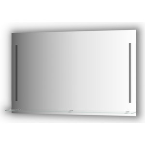 Зеркало с полочкой Evoform Ledline-S с 2-мя светильниками 11 W 120x75 см (BY 2167) зеркало evoform ledline 100х75 см со встроенным led светильником 7 w by 2107