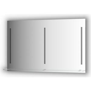 Зеркало с полочкой Evoform Ledline-S с 3-мя светильниками 16,5 W 120x75 см (BY 2168) зеркало evoform ledline 100х75 см со встроенным led светильником 7 w by 2107