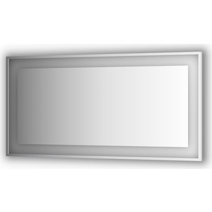 Зеркало в багетной раме Evoform Ledside со светильником 35,5 W 150x75 см (BY 2210) зеркало evoform ledline 100х75 см со встроенным led светильником 7 w by 2107