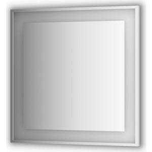Зеркало в багетной раме поворотное Evoform Ledside со светильником 26,5 W 90x90 см (BY 2211) цены онлайн