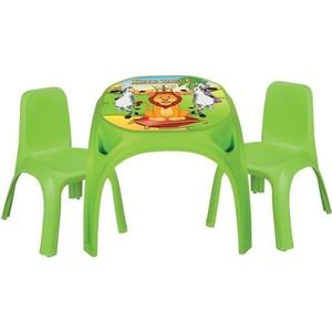 Детский стол Pilsan King + 2 стула цвет зеленый (03-422)