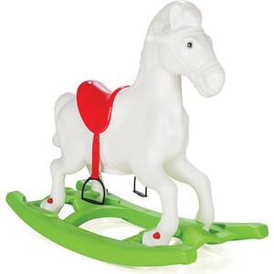 цена на Качалка лошадка со стременами Pilsan Windy Horse Белый (красное седло и зеленая подставка) (07-908)
