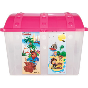 Контейнер для игрушек Pilsan Сундук розовый (06-189) велосипед с родительским контролем pilsan happy 7165 plsn