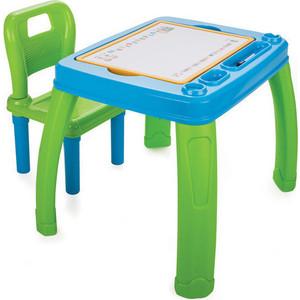 Набор мебели Pilsan (парта + стул) цвет сине-зеленый (03-402)