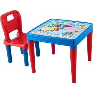 Фотография товара набор мебели Pilsan Menekse & Hobby (стол+стул) цвет красно-синий (03-419) (660370)