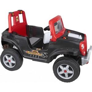 Педальная машина Pilsan Monster со звуковым сигналом цвет черно-серый (красный) (07-311)