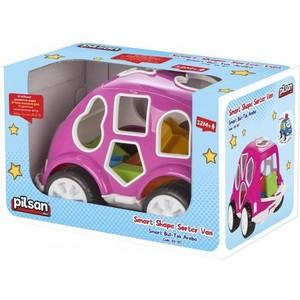 Фотография товара сортер Pilsan Машинка цвет розовый (03-187) (660396)