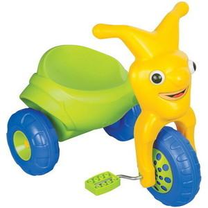 Трехколесный велосипед Pilsan Clown в подарочной коробке цвет зелено-желтый (07-142) трехколесный велосипед pilsan ducky с родительской ручкой цвет зелено оранжевый 07 141