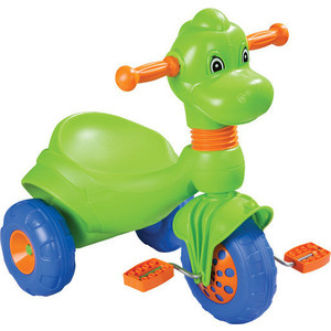 Трехколесный велосипед Pilsan Dino в пакете цвет зеленый (07-156) трехколесный велосипед pilsan ducky с родительской ручкой цвет зелено оранжевый 07 141