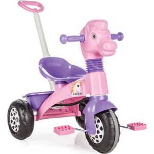 Трехколесный велосипед Pilsan Pony Bike с родительской ручкой цвет розово-фиолетовый (07-139) трехколесный велосипед pilsan ducky с родительской ручкой цвет зелено оранжевый 07 141