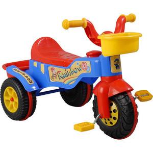 Трехколесный велосипед Pilsan Rainbow цвет красный (07-116) pilsan pilsan трехколесный велосипед happy с родительской ручкой зелено желтый