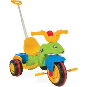 Трехколесный велосипед Pilsan Tirtil с родительской ручкой цвет зелено-желто-синий (07-128) pilsan pilsan трехколесный велосипед tirtil с родительской ручкой желто зеленый