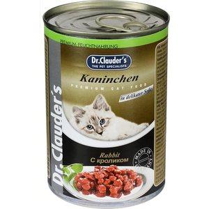 Консервы Dr.Clauder's Rabbit in Delicate Sauce с кроликом кусочки в соусе для кошек 415г консервы gourmet gold паштет с кроликом для кошек 85г 12182548