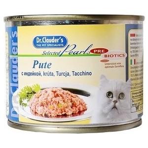 Купить консервы Dr.Clauder's Selected Pearls Pate Turkey паштет с индейкой для кошек 200г (660446) в Москве, в Спб и в России